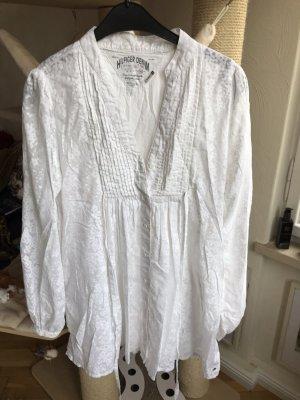 Hilfiger Denim Blusa de manga larga blanco Algodón