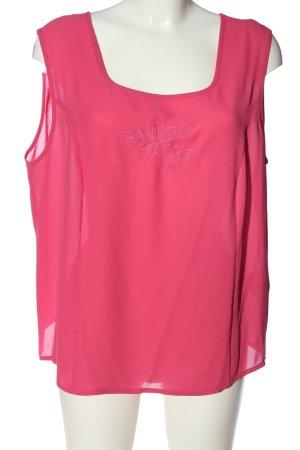 Sommermann Sleeveless Blouse pink flower pattern casual look