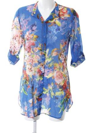Sommermann Hemd-Bluse Blumenmuster Casual-Look