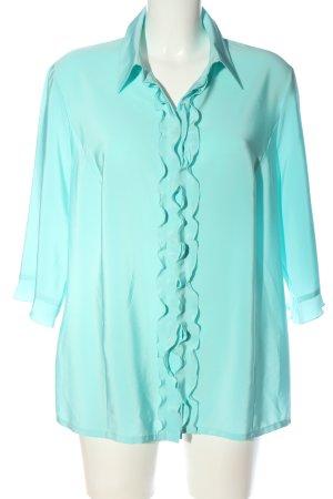 Sommermann Blouse-chemisier turquoise style décontracté