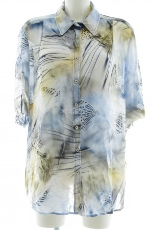 Sommermann Kurzarm-Bluse abstraktes Muster Casual-Look