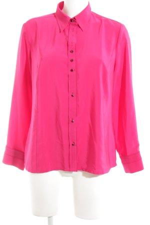 Sommermann Langarm-Bluse pink Business-Look