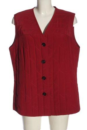 Sommermann Gilet matelassé rouge motif de courtepointe style décontracté