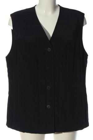 Sommermann Gilet matelassé noir motif de courtepointe style décontracté