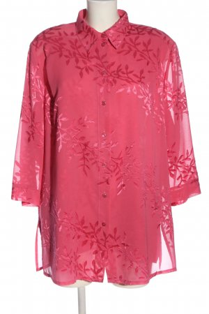 Sommermann Twin set in tessuto rosa stampa integrale stile casual