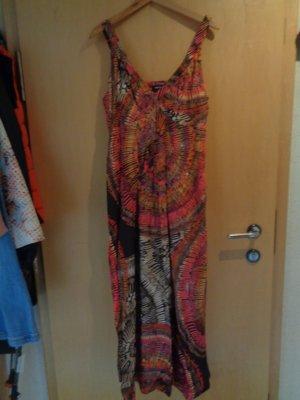 Taifun Sukienka midi Wielokolorowy Bawełna