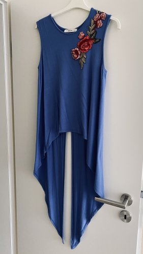 Batik Bluzka bez rękawów niebieski-stalowy niebieski