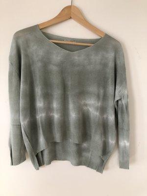 0039 Italy Camicia oversize verde-grigio