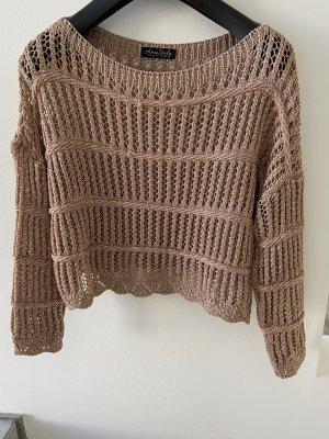 0039 Italy Pull en crochet bronze