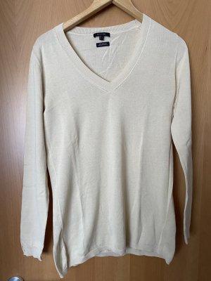 Massimo Dutti V-Neck Sweater cream