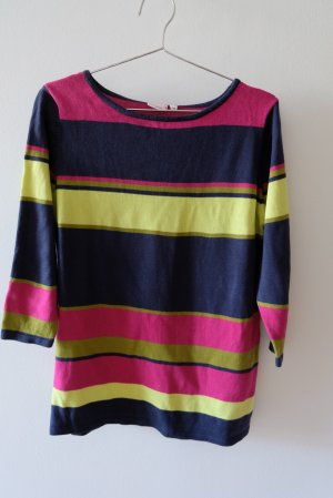 Laura Torelli Short Sleeve Sweater multicolored