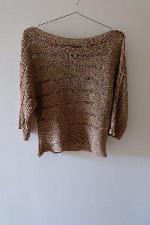 Steilmann Pull kimono marron clair acrylique