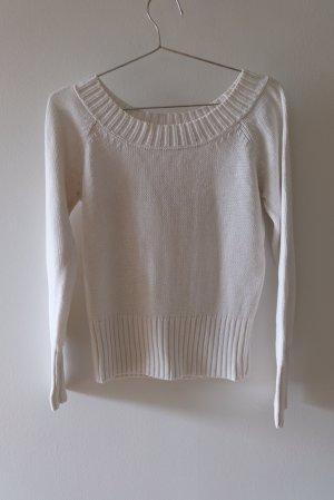Iris von Arnim Maglione lavorato a maglia bianco