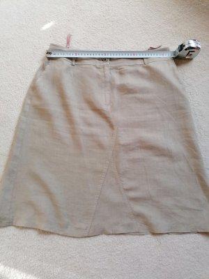 Lniana spódnica beżowy