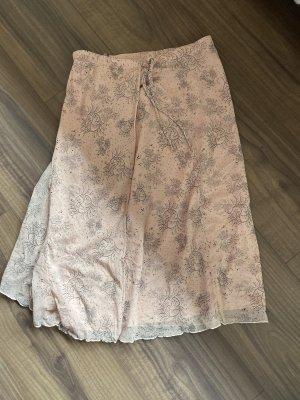 Flounce Skirt dusky pink-black