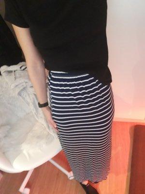 Maxi Skirt white-blue
