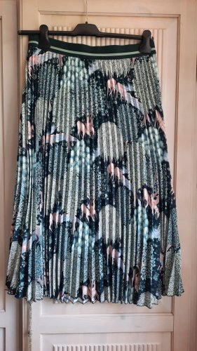 H&M Morris & Co Plisowana spódnica w kolorze różowego złota-szaro-zielony