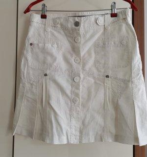Lniana spódnica biały Bawełna