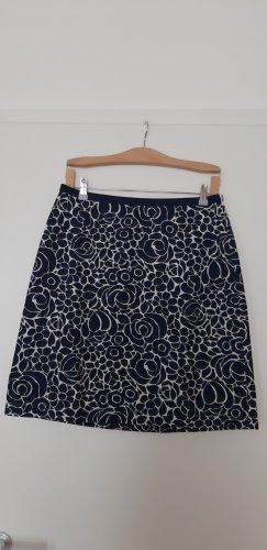 Boden Mini rok wit-donkerblauw