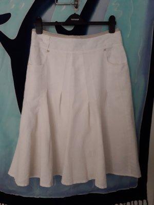 Bandolera Godet Skirt oatmeal cotton