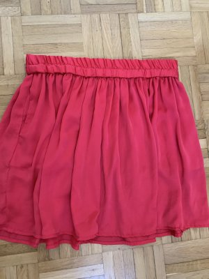 24Colours Plaid Skirt bright red