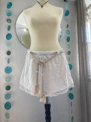 Mymo Skater Skirt white cotton