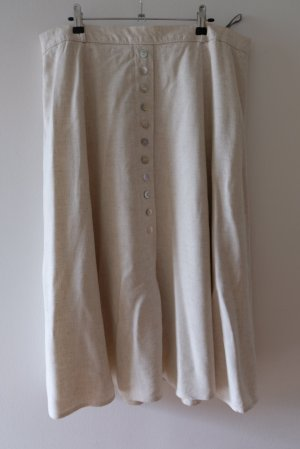 Vintage Linen Skirt light grey-oatmeal