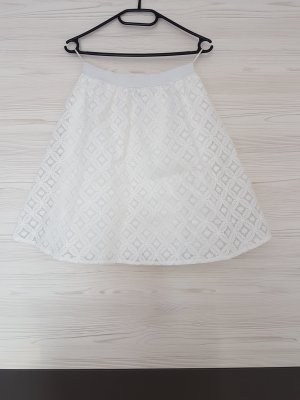 rick cardona Falda de encaje blanco