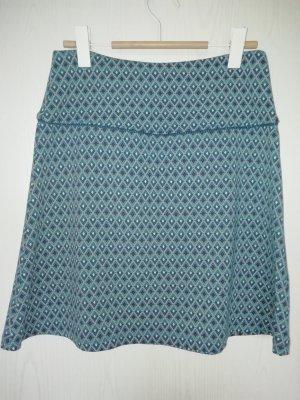 Sorgenfri Sylt Circle Skirt cadet blue viscose
