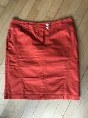 Airfield Pencil Skirt red cotton