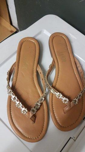 s.Oliver High-Heeled Toe-Post Sandals rose-gold-coloured-light brown