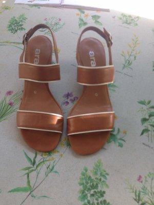 ara High Heel Sandal beige leather
