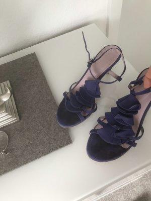 Boden Strapped High-Heeled Sandals blue violet leather