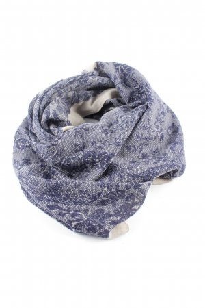 Summer Scarf blue-cream flower pattern casual look