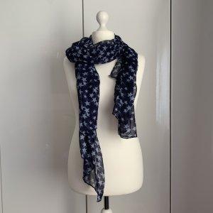 Codello Écharpe d'été bleu foncé-blanc polyester
