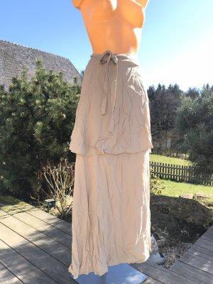 Wraparound Skirt beige-oatmeal cotton