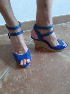 SMH Strapped pumps blue