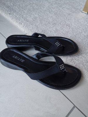 Ariane Chanclas negro-color plata