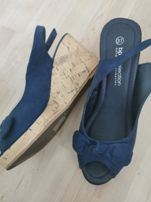 bpc bonprix collection Wedge Sandals nude-blue