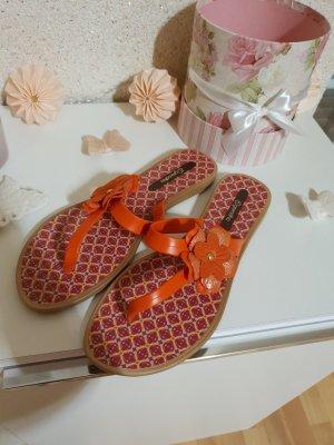 Sandalias con talón descubierto marrón claro-naranja