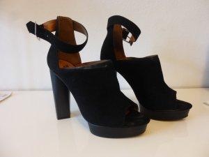 H&M Sandales à talons hauts et plateforme noir daim
