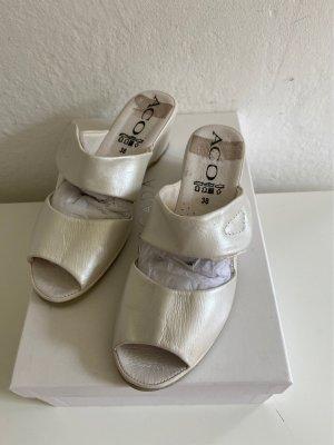 Aco Sabot w kolorze białej wełny-srebrny Skóra