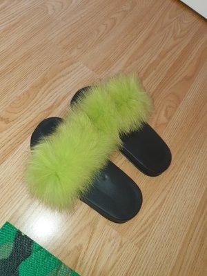 keine Sandalo infradito nero-verde prato