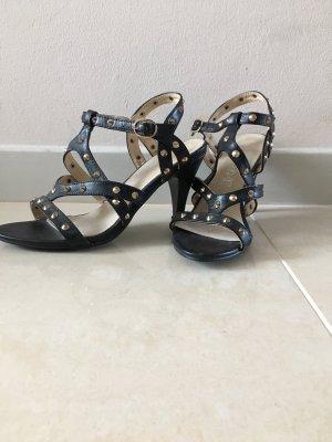 Sommerschuhe Sandalen Nieten Leder schwarz
