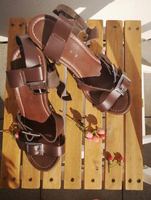 Sisley Sandały japonki brązowy Skóra