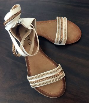 Strapped Sandals white-gold-colored