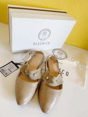 Peserico Ballerinas with Toecap beige-camel