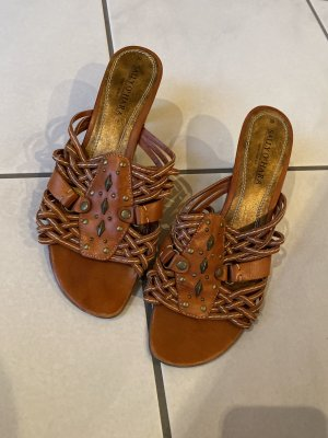 Sally O'Hara Beach Sandals dark orange