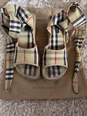 Burberry Espadrille Sandals beige