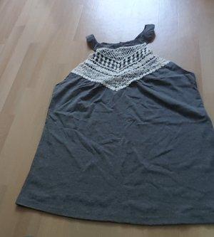 Gehaakt shirt grijs